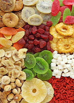 Different types of dried fruits and their properties